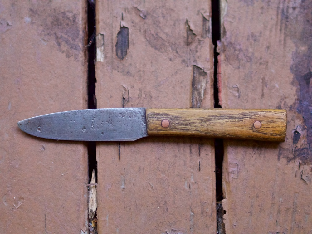 Lucas is a professional blacksmith and all of the knives he brings with him are his own handmade blades.