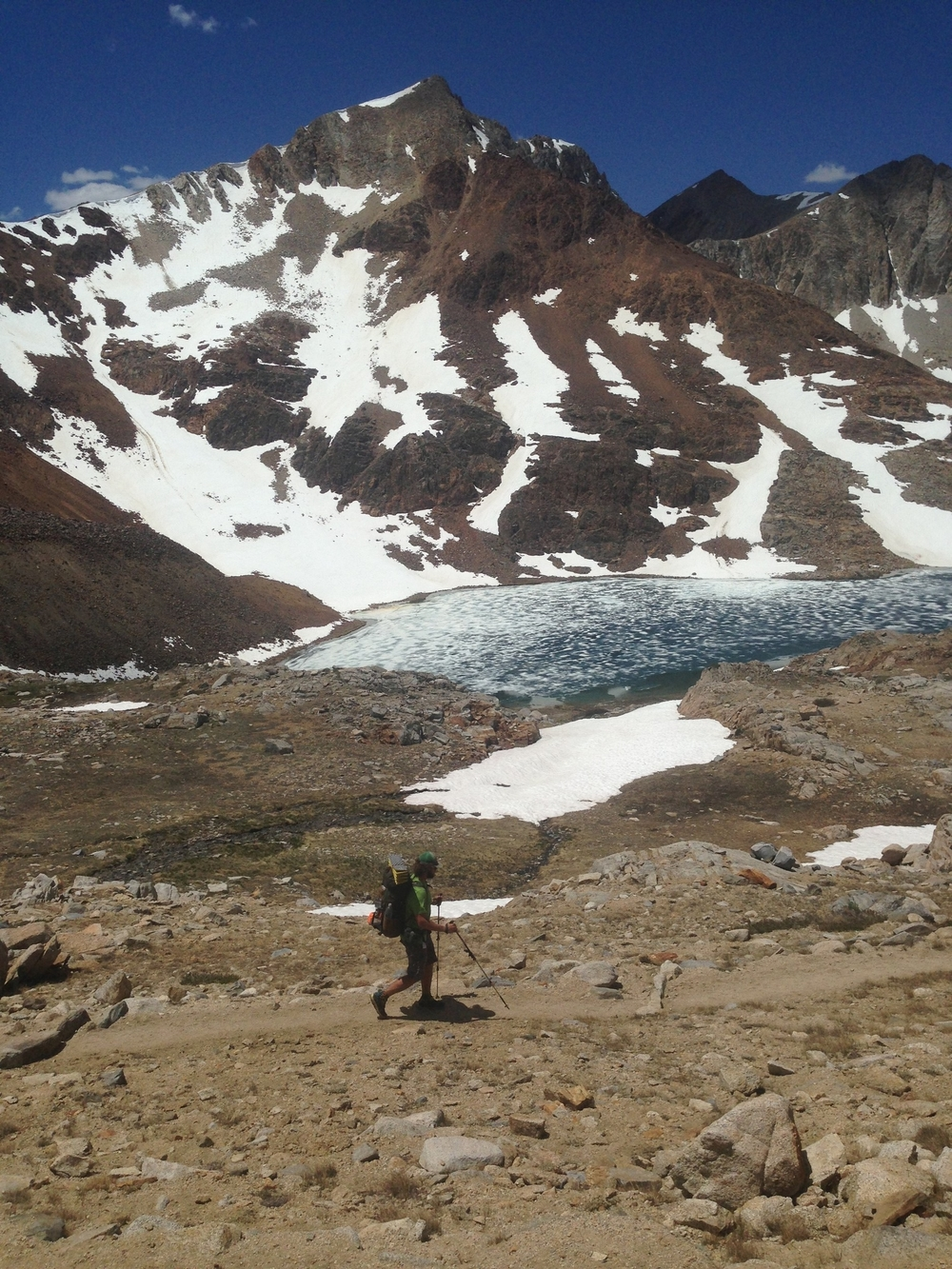 Colin Arisman hiking through the Sierra Nevada Mountains.
