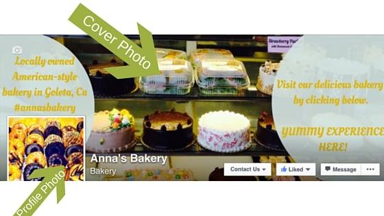 This photo comes from my client, Anna's Bakery's Facebook page. This cover photo was made through Canva.com