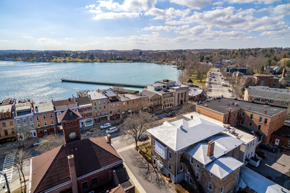 Skaneateles is a unique Village located on one of the purest lakes in the world.    The current building owner lives in the penthouse apartment which has access to its own private rooftop deck overlooking Skaneateles Lake, offering an elevated and awe-inspiring view.