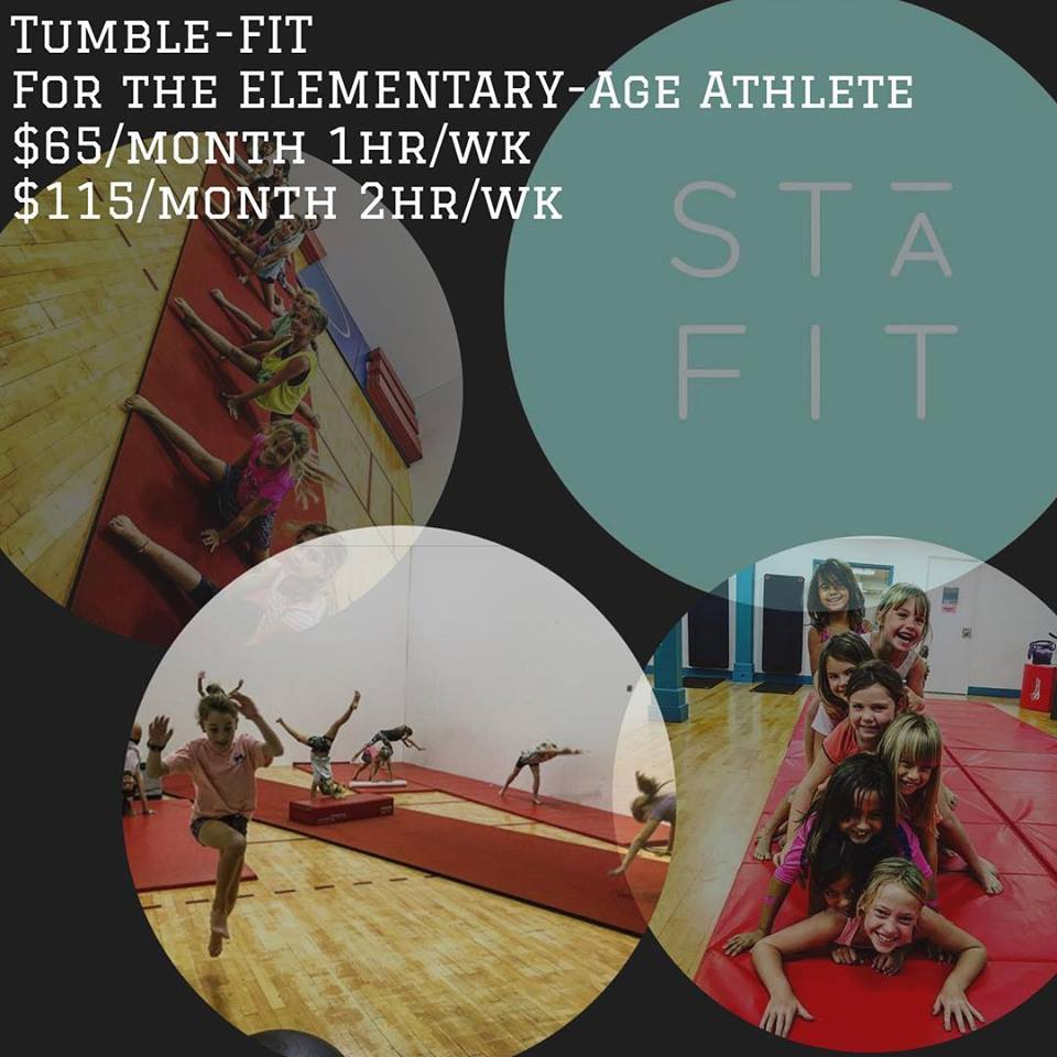 TumbleFIT - A workout class designed for tumblers from beginning to advanced. The class will focus on overall mental and physical development including physical strength and flexibility, mobility/movement, body awareness, and the how's and why's of proper form and technique. This is all achieved by following USA gymnastics progression and safety guidelines. Through progressive drills designed to develop proper form and technique, each tumbler will achieve their personal goals.