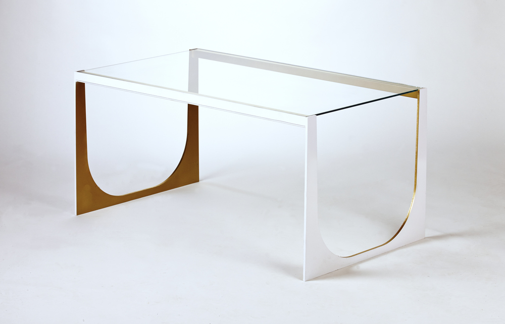 "Bridget Table: As shown 22""Wx40""Lx18""H.  Made in USA.  Can be custom sized and finished."