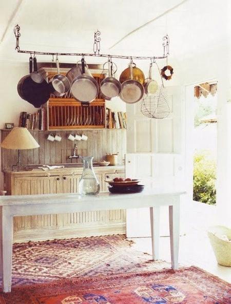 rustic-kitchen-hanging-pots-oriental-rugs.jpg