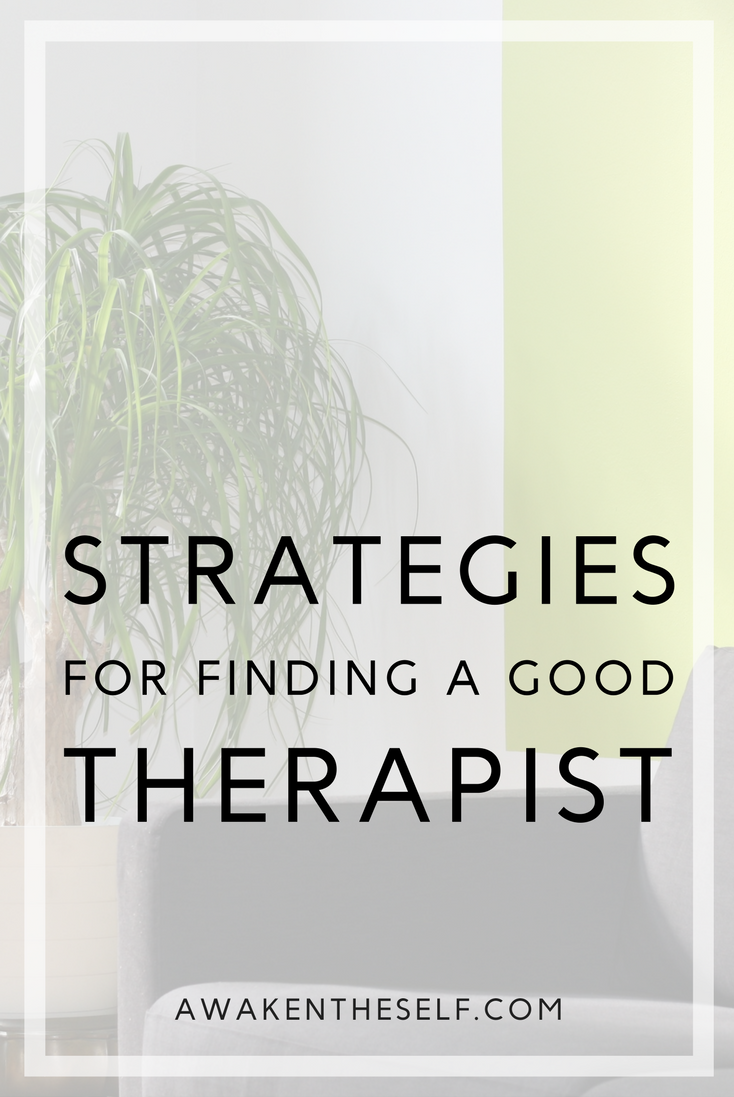 here are a few pointers that will help you find a good therapist who matches your personality
