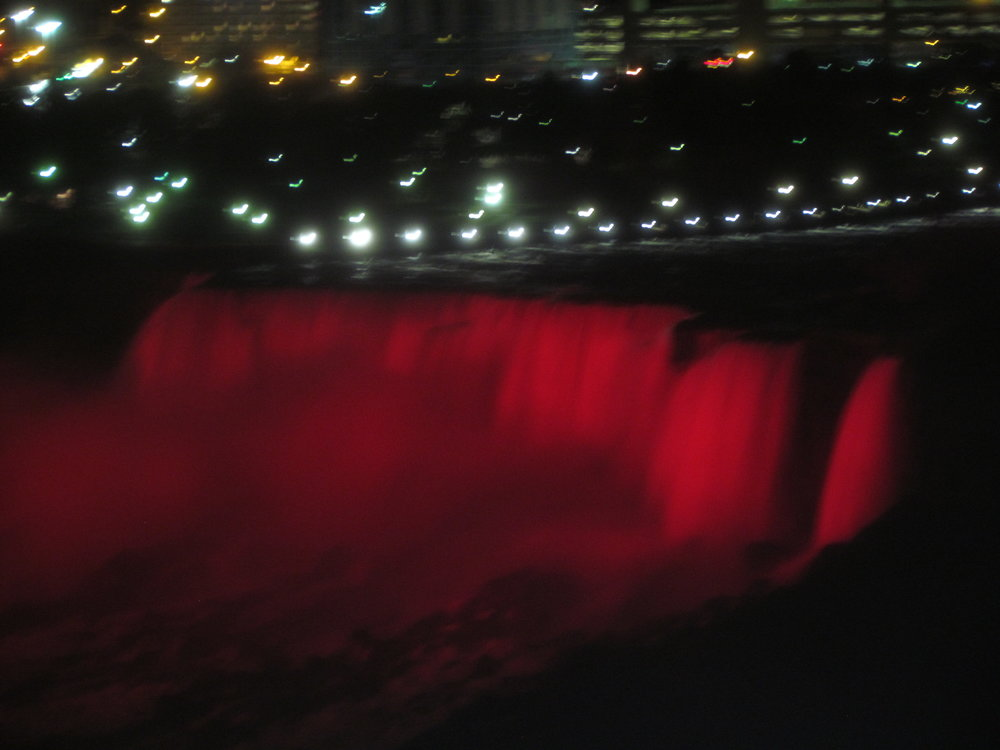 Niagara Falls lit orange for Color The World Orange™ 2016