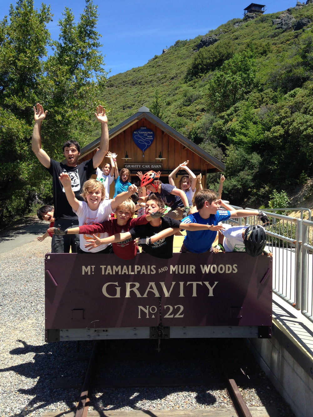Taking a Ride in The Gravity Car at East Peak Mt Tam Mill Valley
