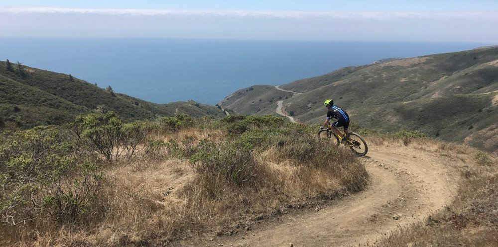 Private Mountain Bike Skill Coaching Switch Backs in Marin County