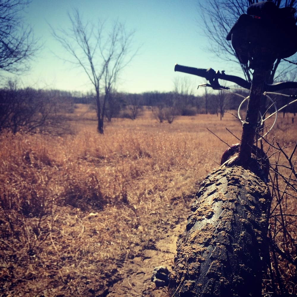 Some early season adventures in Michigan. I rode through some old horse trails; it was good I had the fat tire bike.