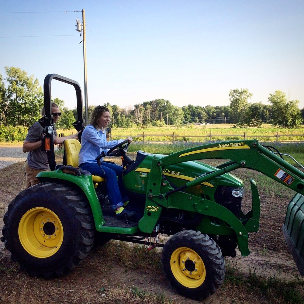 Another trip to MI; this time to my parent's farm. My wife was loving the John Deere.