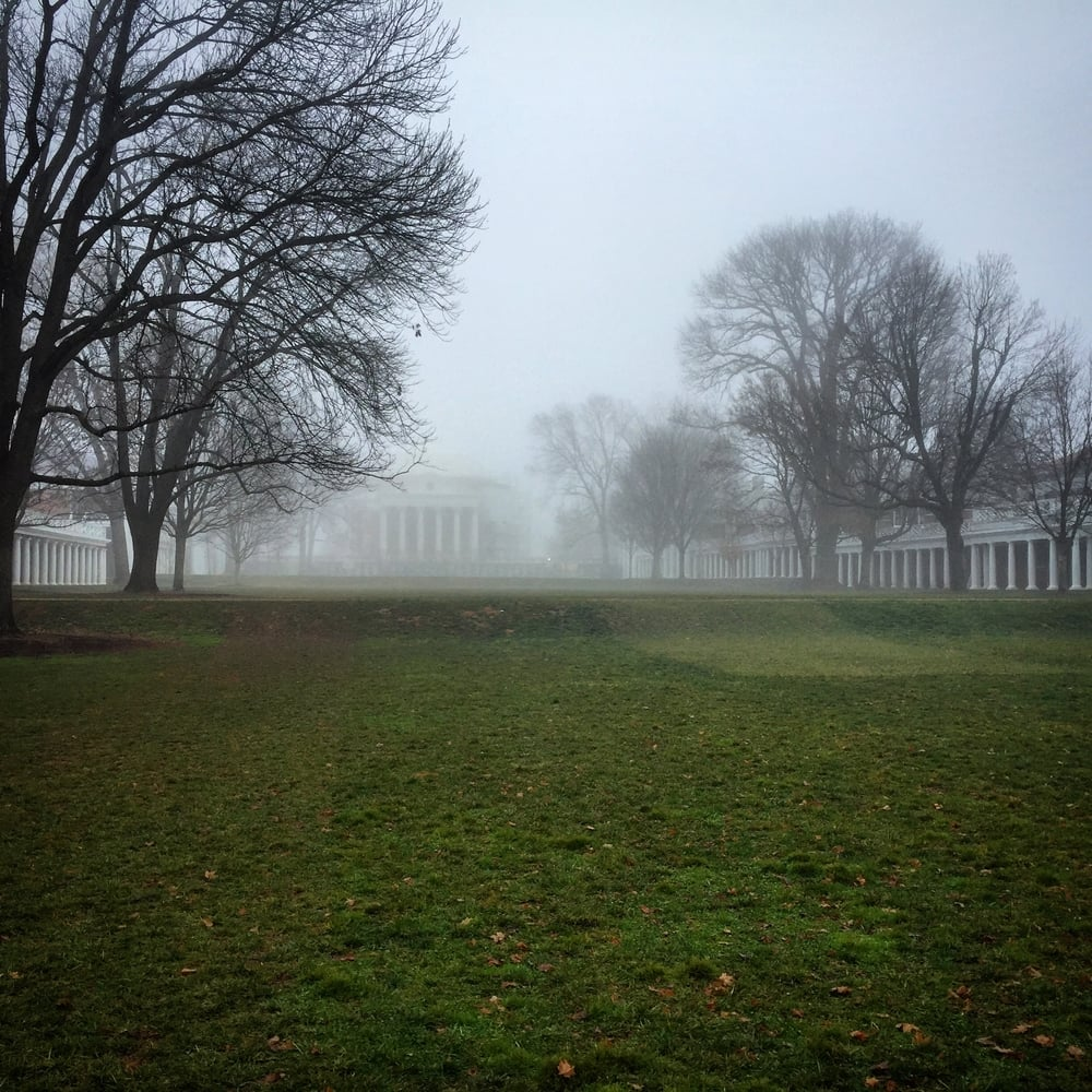 A blanket of fog covered C'Ville.