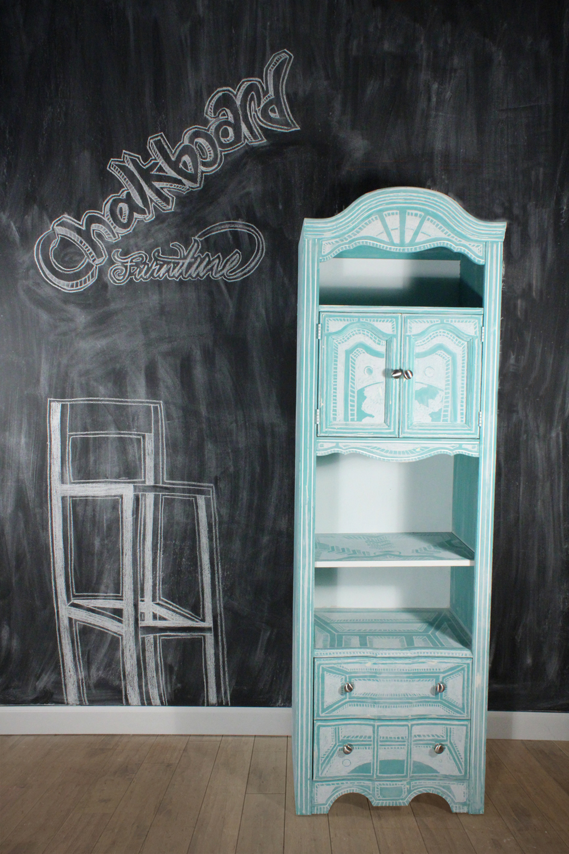 Chalkboard Furniture Teal Bookshelf 1 Of 1