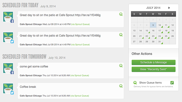 SproutSocial.com allows teams to manage content calendars together.
