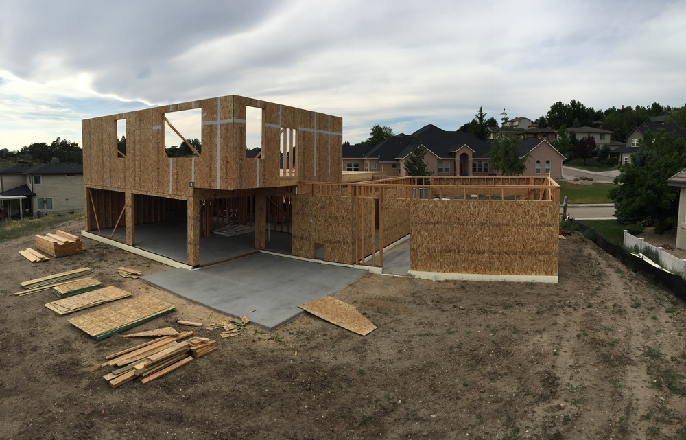 Second story walls go up