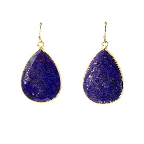 amazon disc earrings blue com jewelry silver lapis sterling drop dyed slp bling leverback