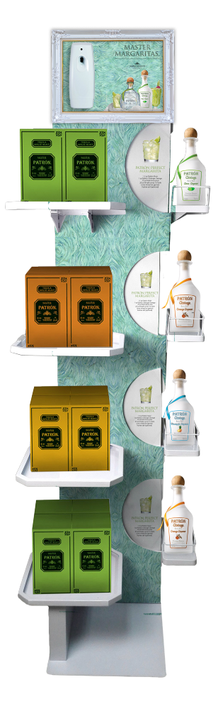 Margarita scent display uses motion sense to dispense a citrus scent when customers walk by.