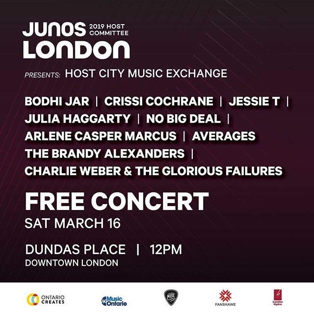 Looks like we're gonna be the triple espresso shot to start off your JUNO Saturday! @junosldn @ldnmusicoffice @dundas_place @downtownlondon