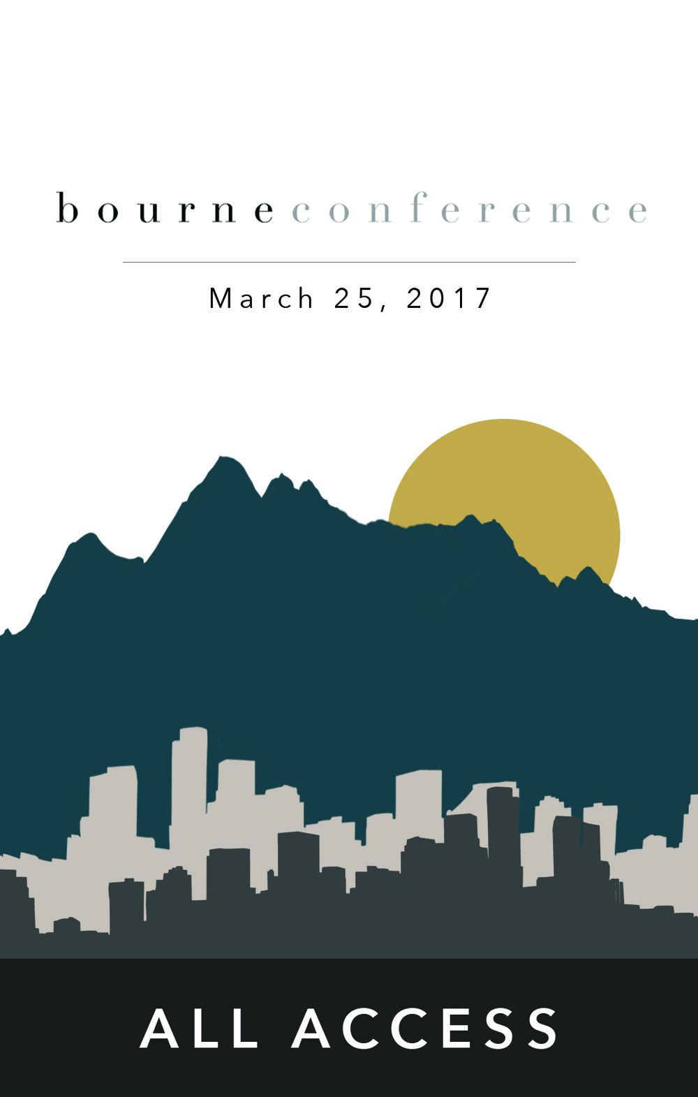 Conference Badge for  Bourne Ministry