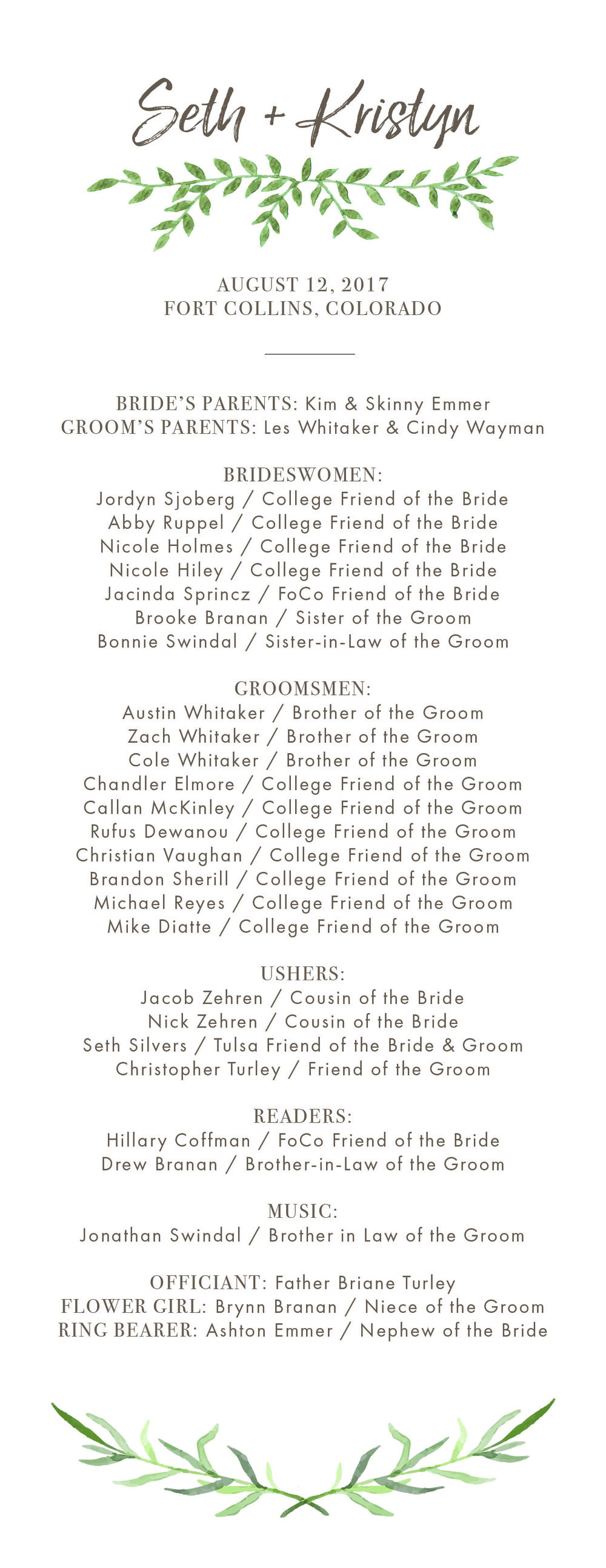Whitaker Wedding Program Front.jpg