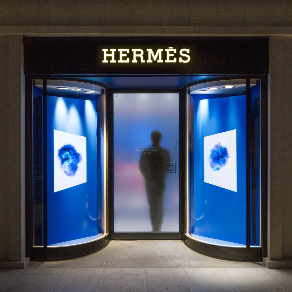 Hermès Geneva - JIWON CHOI has collaborated with Petit h department of Hermès to produce Reversible Masks. They are available in 2 animals: fox and bunny.Currently sold at Hermès Boutique Geneva,Hermès Boutique New York Madison.