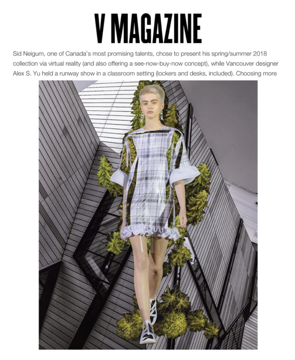 V Magazine (ALEX S. YU x JIWON CHOI Collaboration),LONDON, 2017