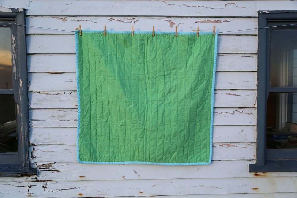 Rosebud Quilt, 2015, cotton, recycled materials, 100cm x 100cm