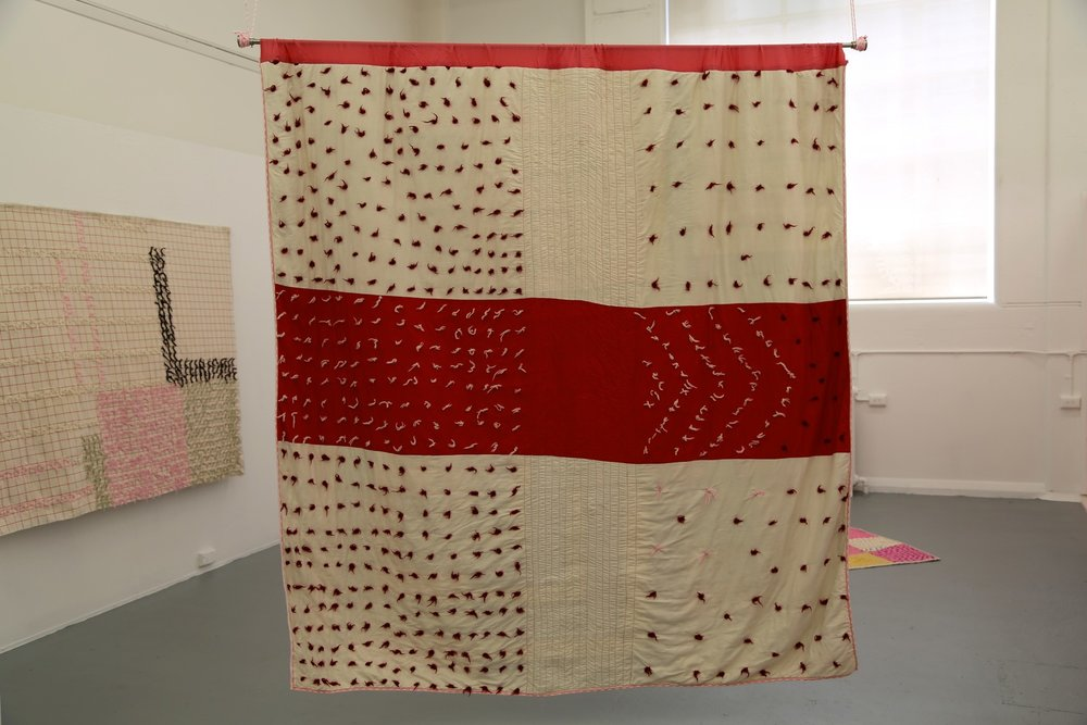 3rd Year Grad Show, BFA RMIT 2014, installation, quilts, paint