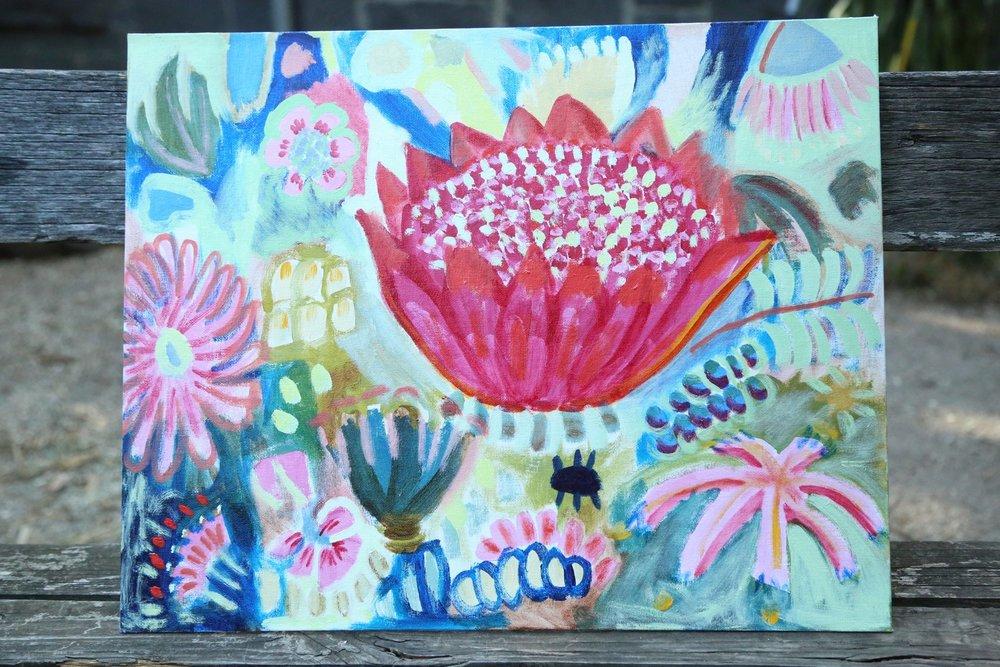 Bikky tin garden, 2013, Oil on canvas