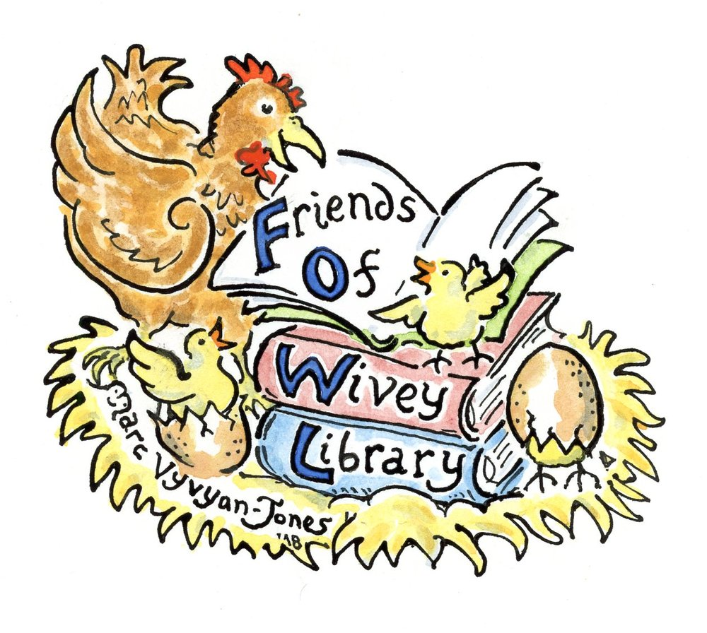 A logo for the Friends of Wivey Library
