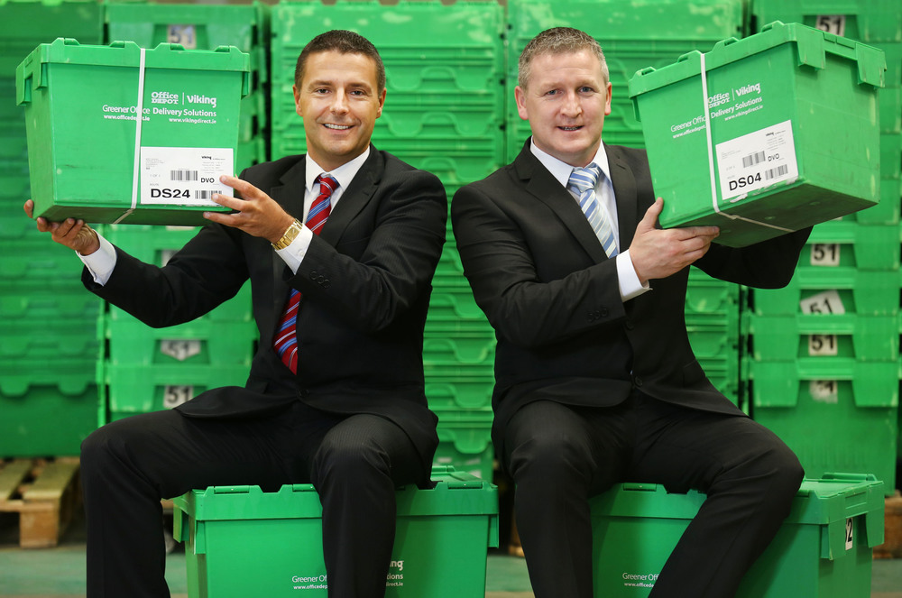 Michael Walby, Sales Director and Jason McCourt, Logistics Manager of Office Depot Ireland