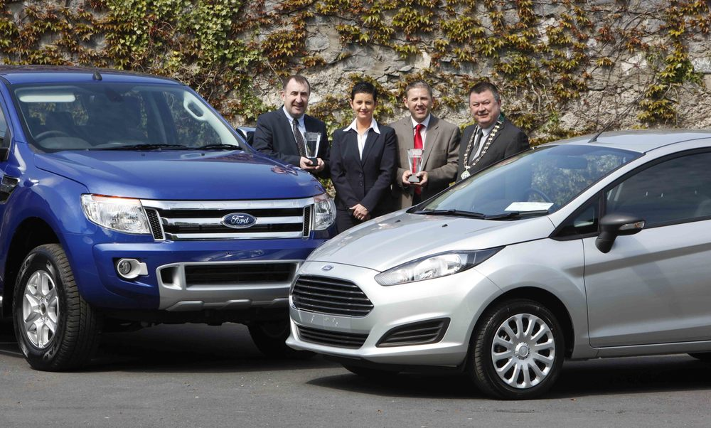 Ford Ireland  are presented as the  Ford  Fiesta Van and  Ford  Ranger were named category winners of the Continental Irish  Van of the Year 2013