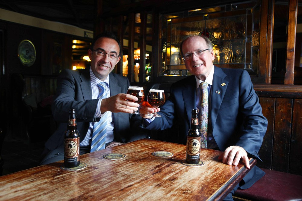 Launch of Kentucky bourbon barrel ale, by Alltech and Carlow brewing company