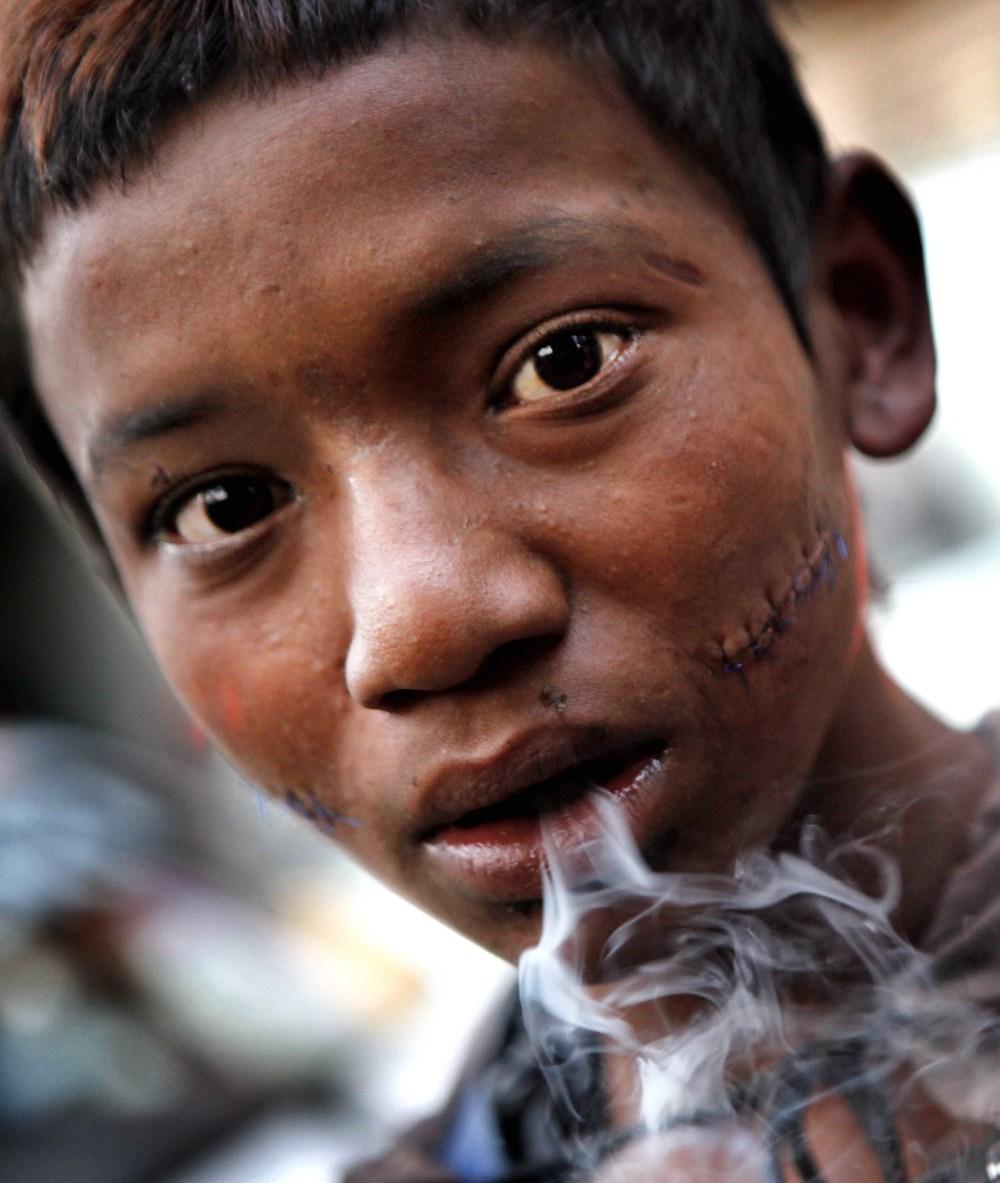 Heroine addict in Nepal