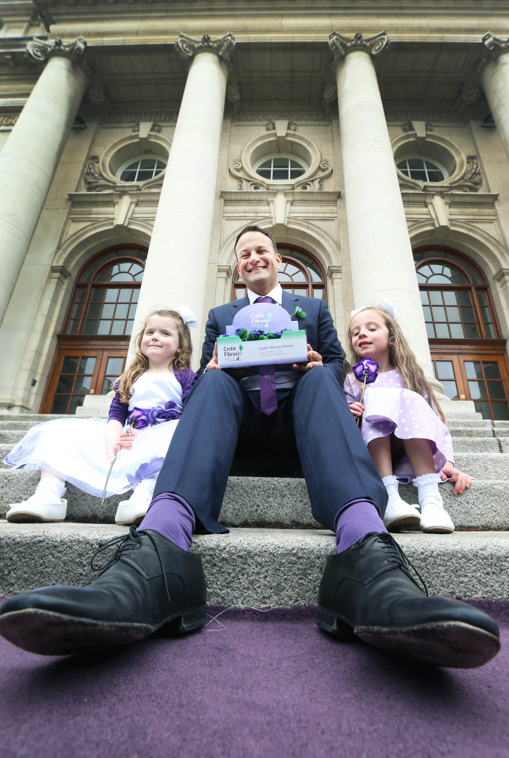 Taoiseach Leo Varadkar doing Cystic Fibrosis launch