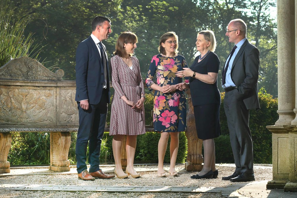 Ceres, the women in agri-food leadership network Event - Pictured are Sean Farrell, Head of Agriculture, Bank of Ireland, Ciara Jackson, Food, Agribusiness & Drink Practice Leader, Aon, Karen Brosnan, Chair, Ceres, Bríd Horan, Non-Executive Director and Former Deputy CEO ESB and Founder of 30% Club Ireland and Brendan Gleeson, Head of Policy and Strategy, Department of Agriculture, Food & the Marine.