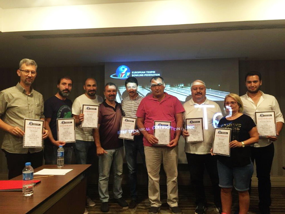 Marios Nicolaides with participants of the ETBF Technical Certification Clinic.
