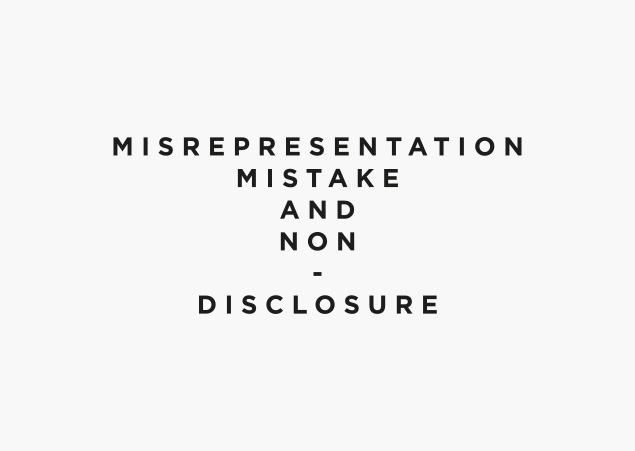 Mistake, Representation and Non-disclosure, exhibition logo