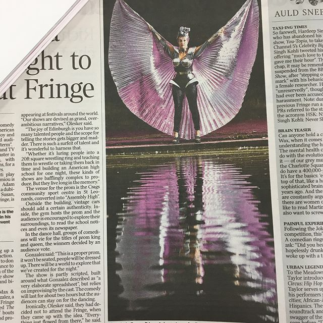 Enter the Dragons' @comedy_ae dominating The Times today... only 7 shows left so catch them while you can @thepleasance! #edfringe #intotheunknown