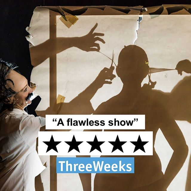 """""""A flawless show...this is a cunning and poignant fight-back delivered with a fantastically wicked sense of humour."""" ⭐️⭐️⭐️⭐️⭐️ from ThreeWeeks for #EnterTheDragons by @comedy_ae. You'll find them @thepleasance until 27 August! #edfringe #comedy"""