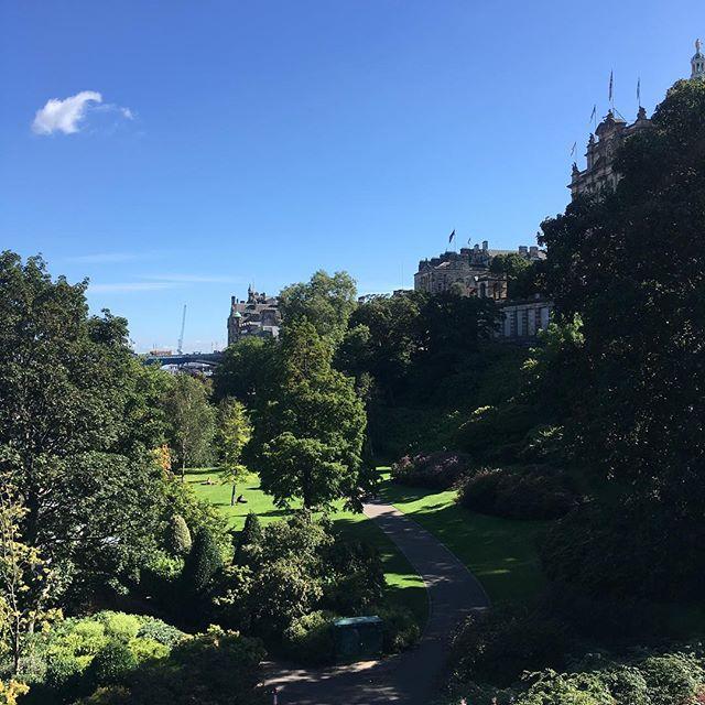After a brief post-festival hibernation, looking pretty lovely today. #edinburgh #scotland