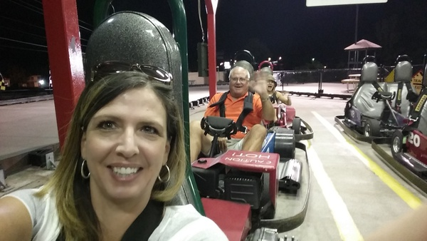 After miniature Golf, several participants decided to hit the go carts to wind down1