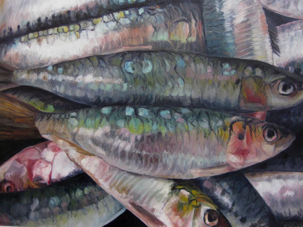 Large Sardines 86.5x117cms 2009.jpg