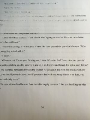 A sneak peek of my rough draft for your entertainment.