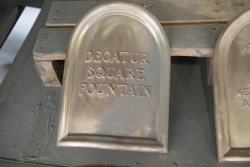 The fountain is intentionally named  Decatur Square Fountain  in remembrance of this site's former name of Decatur Square.