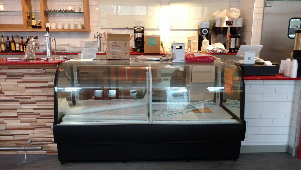 Display case soon to be filled...soft opening in the next few weeks