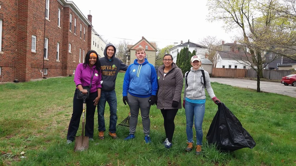 A proud street team with WBNA board member Obed Papp that cleaned up the lot next to 1488 Westminster