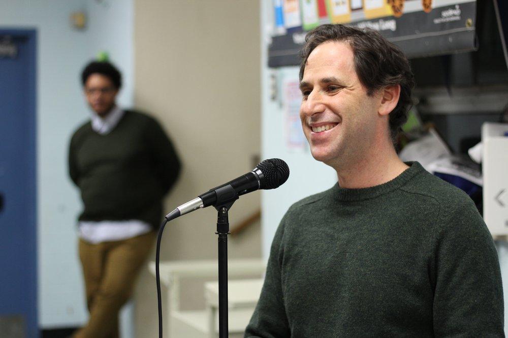 Board President Matt Gabor introduces our first Neighborhood Night