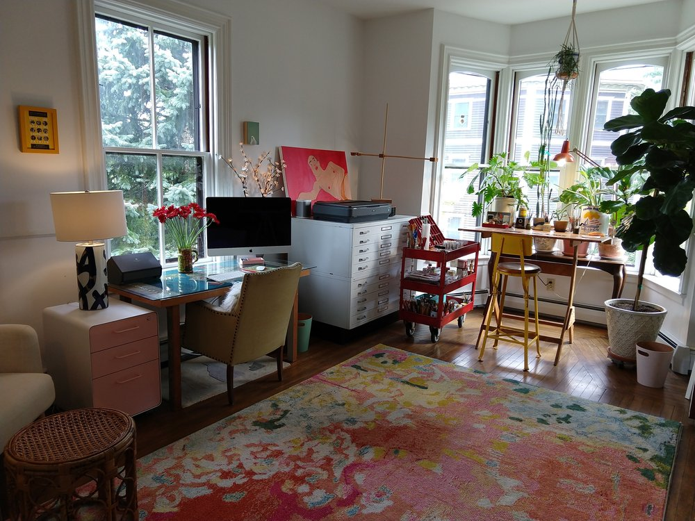 Painting studio in a Harrison Street home Photo by Jessica Jennings