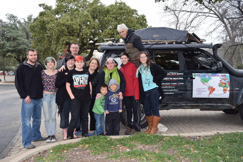 The Lally Family's 30,000+ Mile Journey Home!      Read Story About Their Journey
