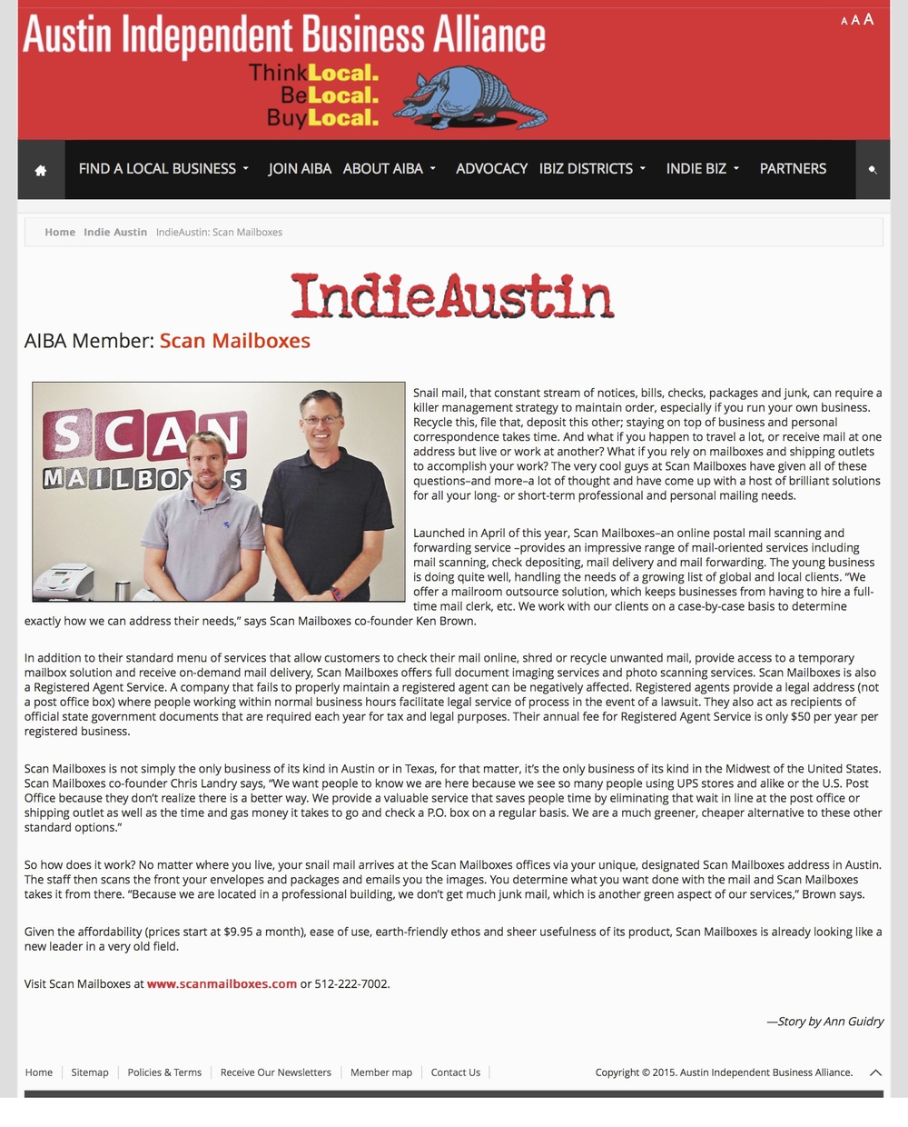 Austin independent business alliance story scan for Document scanning services austin