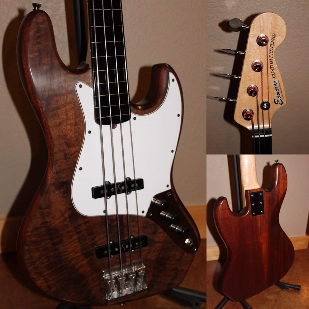 Edwards Custom Fretless Bass
